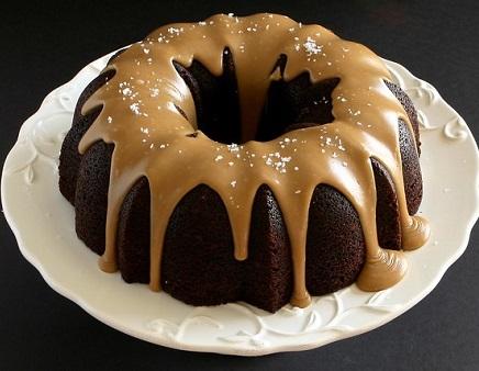 Guinness Chocolate Cake With Smoked Salted Caramel Glaze
